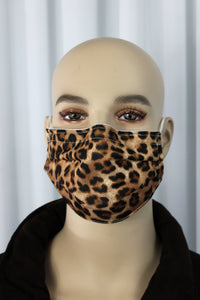 Cheetah Pleated Mask