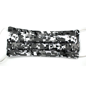 Gray Digi Camo Pleated Mask