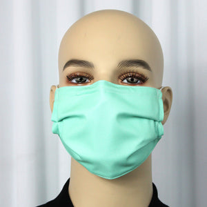 Solid SeaFoam Pleated Mask