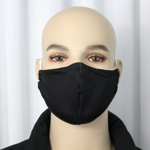 Solid Black Fitted Mask