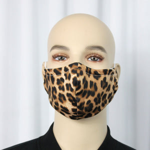 Cheetah Fitted Mask