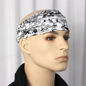 Gray Digi Camo Head Band