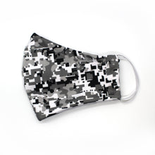 Load image into Gallery viewer, Gray Digi Camo Fitted Mask