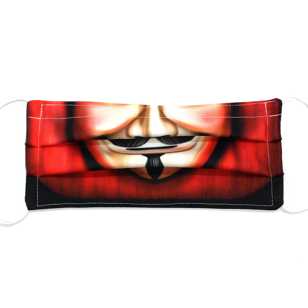 Guy Fawkes Novelty Pleated Mask