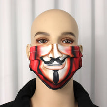Load image into Gallery viewer, Guy Fawkes Novelty Pleated Mask