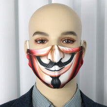 Load image into Gallery viewer, Guy Fawkes Novelty Fitted Mask