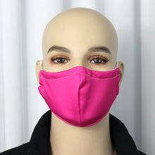 Load image into Gallery viewer, Solid Hot Pink Fitted Mask