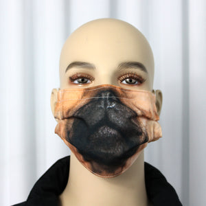 Pug Novelty Pleated Mask
