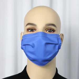 Solid Periwinkle Pleated Mask