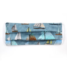 Load image into Gallery viewer, Watercolor Sailboats Pleated Mask