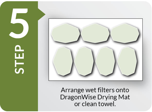 DragonWise Filter Care Washing Step 5