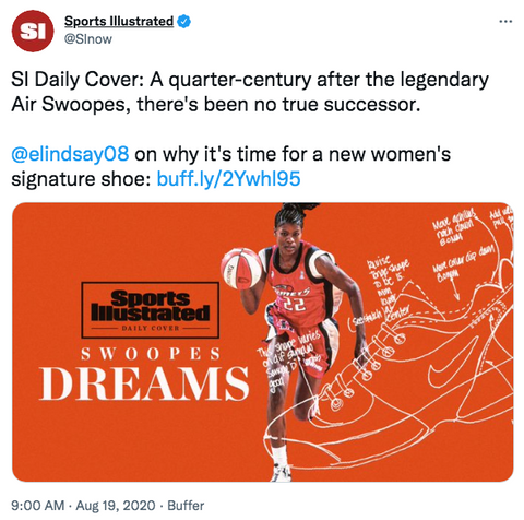 Sports Illustrated: The Legend of Air Swoopes and the Quest for a New Women's Signature Shoe