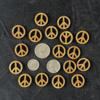 Wood Peace Sign Miniature