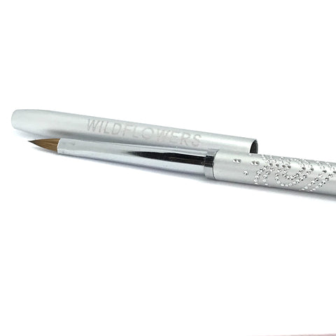 Silver 3-D Nailart Brush With Lid