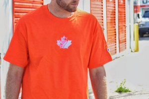 "'SOLEAF' CHAMPION T-SHIRT ""SAFETY ORANGE"""