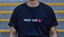 Load image into Gallery viewer, 'TRUE TO SIZE' CHAMPION T-SHIRT BLACK