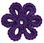 Image of Crochet Motif VI:  Six-Petal Flower Motif