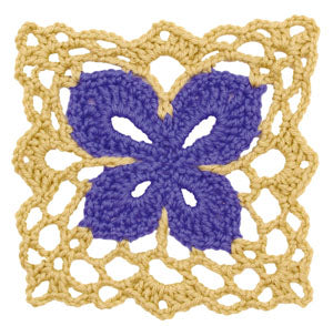 Crochet Floral Block: Butterfly Square