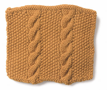 Knitting: Cable: Cable and Seed
