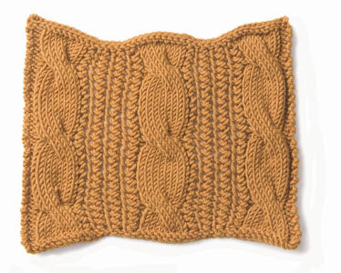 Knitting: Cable: Cable and Wheat