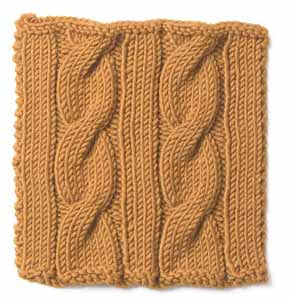 Knitting: Cable: Classic Cable and Rib