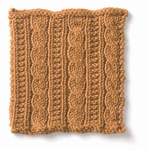 Knitting: Cable: Gingerbread