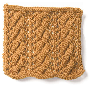 Knitting: Cable: Large Cable and Eyelet