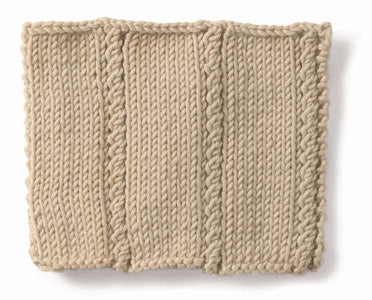 Knitting: Cable: Mock Right Twist