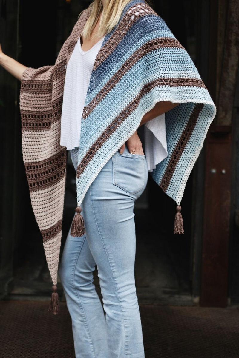 Crochet Kit - Earl Grey Wrap