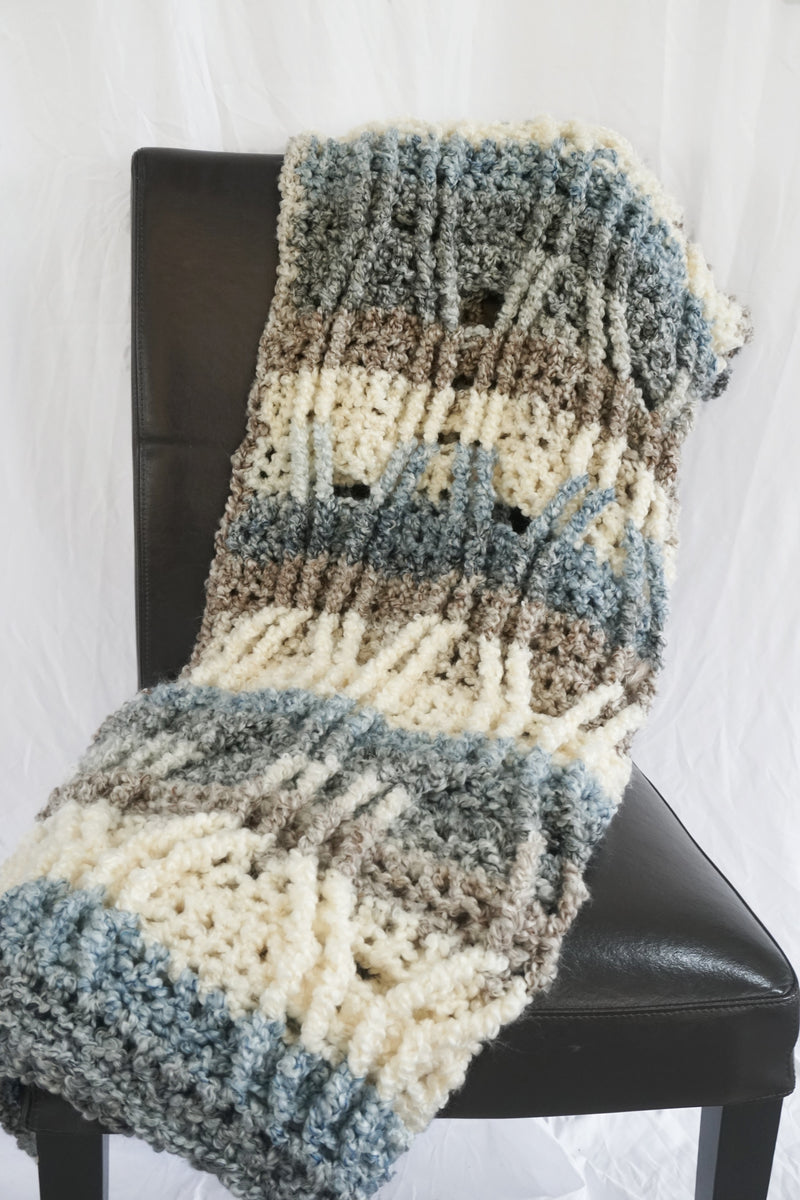 Crochet Kit - Austin Cables Throw