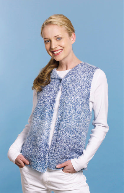 Knitted Quick and Easy Vest Pattern