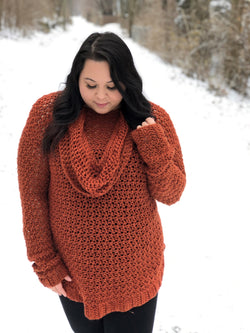 Crochet Kit - Cozy Cowl Pullover
