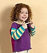 Childs Blocks and Stripes Pullover Sweater Pattern (Knit)