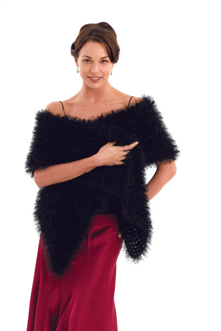 Downloadable Pattern:Think Mink Stole (Crochet)