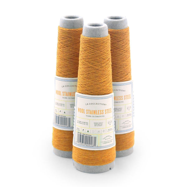 LB Collection® Wool Stainless Steel Yarn (Pack of 3)