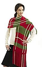 Plaid Scarf (Knit)
