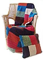 Crochet Color Block Afghan And Pillow