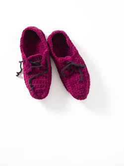 Crochet Oxford Slippers Pattern (Crochet)
