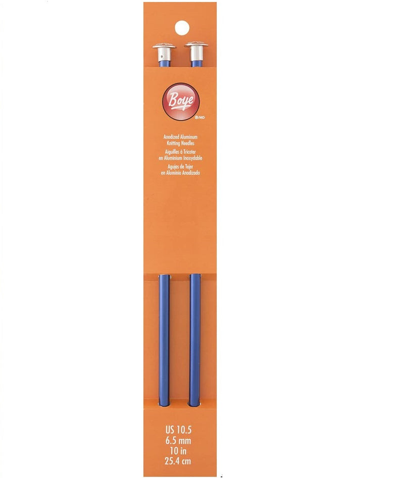 Boye Aluminum Straight Knitting Needles 10 inch