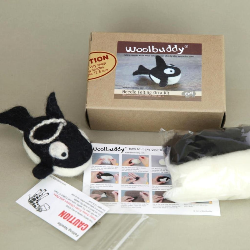 Needle Felting Orca Kit
