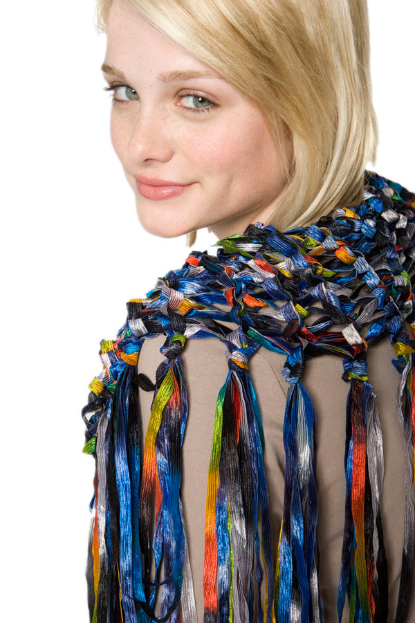Fringed Shawlette Pattern (Knit)