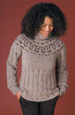 Lush Lace Pullover (Crochet)