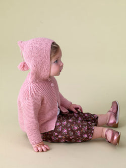 Soft and Warm Baby Hoodie Pattern (Knit)