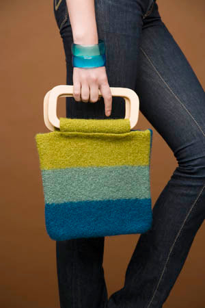 Cool Stripes Felted Bag Pattern (Knit)