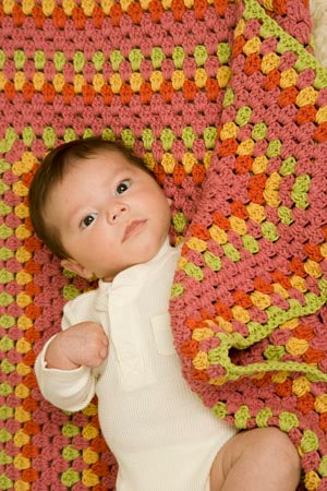 Bright Baby Blanket Pattern (Crochet)