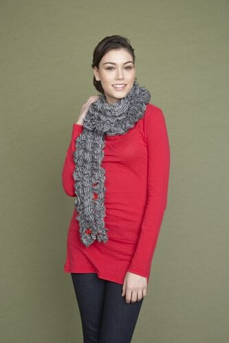 Bright Ruffled Scarf (Knit)