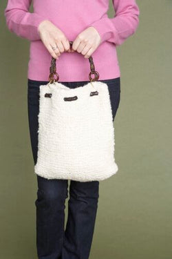 Puffy Drawstring Bag (Knit)