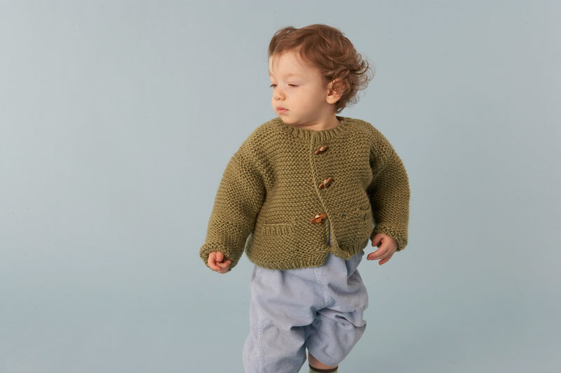 Wee Pocketed Cardigan (Knit)