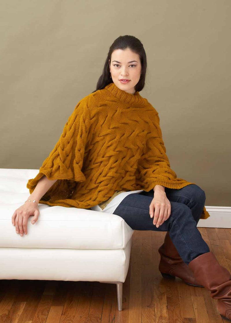 Broken Cables Poncho (Knit)