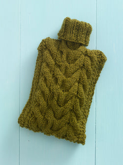 Pure Warmth Hot Water Bottle Cover Pattern (Knit)